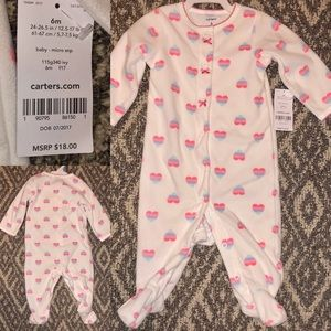NWT 💕 Micro-fleece Footed Onesie